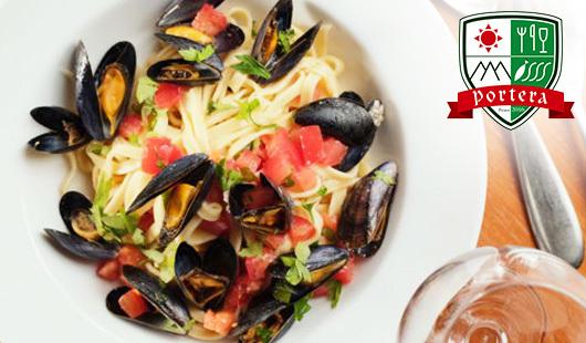 【最大50%OFF/選べるメニュー・ドリンク1杯/1名利用可】北イタリアのピエモンテで修行を積んだシェフが豊洲の新鮮魚介類を上質なイタリアンに《ポルテラコース+お好きなドリンク1杯》隠れ家バルで素敵な夜を